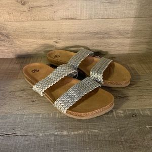 SO Jeanna Womens Strappy Sandals Silver